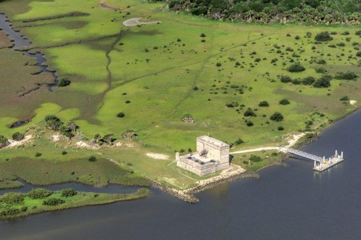Fort Matanzas aerial