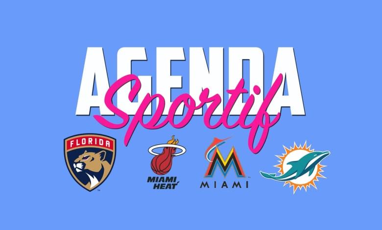 Agenda et calendrier Sportif Miami et Floride