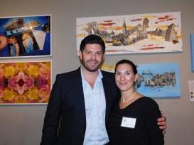 Maîtres Jason Weber et Aline Martin O'Brien (Xander Law Group) Soirée Made in France Exhibit 2016