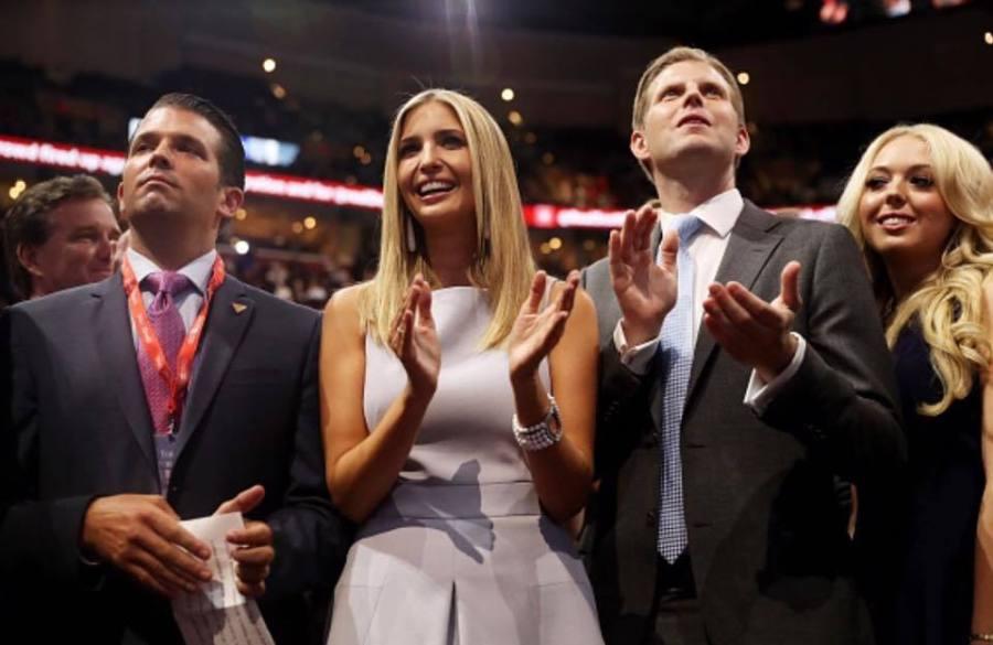 Donald Jr, Ivanka, Eric et Tiffany Trump.