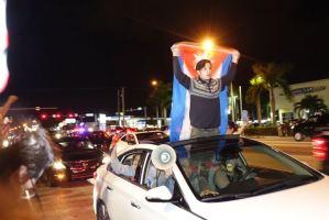 Manifestations de joie le 26 novembre dans les rues de Miami.