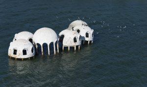 """La """"Dome House"""" de l'île de Cape Romano sur les 10 000 Islands des Everglades"""