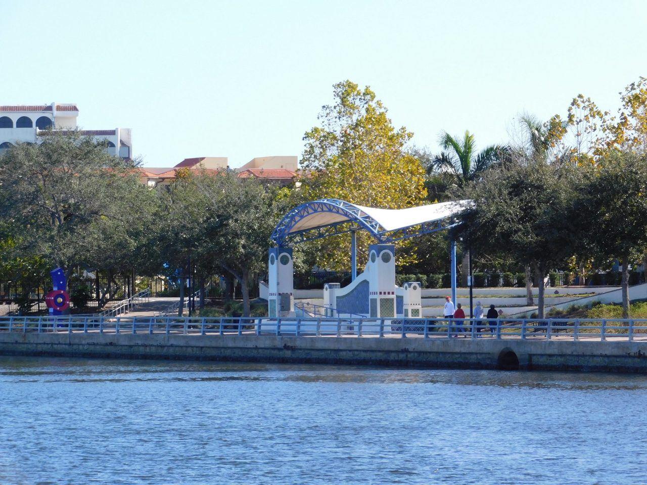 Riverwalk de Bradenton en Floride.