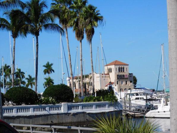 Marina sur le port de Bradenton en Floride.
