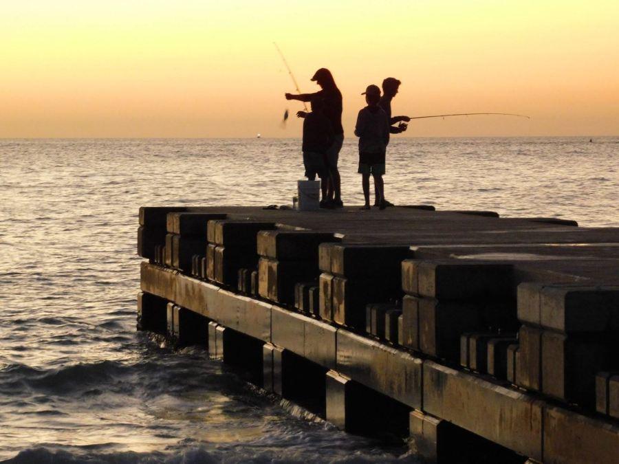 Coucher de soleil sur la plage nord de Longboat Key en Floride