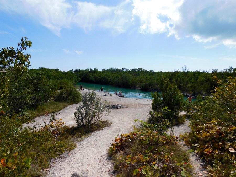 Pont et plages de Jumping Bridge, sur l'île de Sugarloaf Key (Lower Keys de Floride)