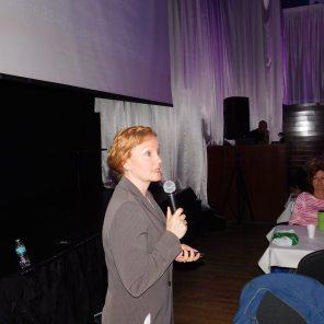 Johanne Marcoux (CPA) au Brunch de la Desjardins Bank au Club Tropical d'Hallandale (2017)