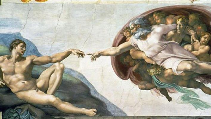 Plafond de la chapelle Sixtine du Vatican par Michel Ange.
