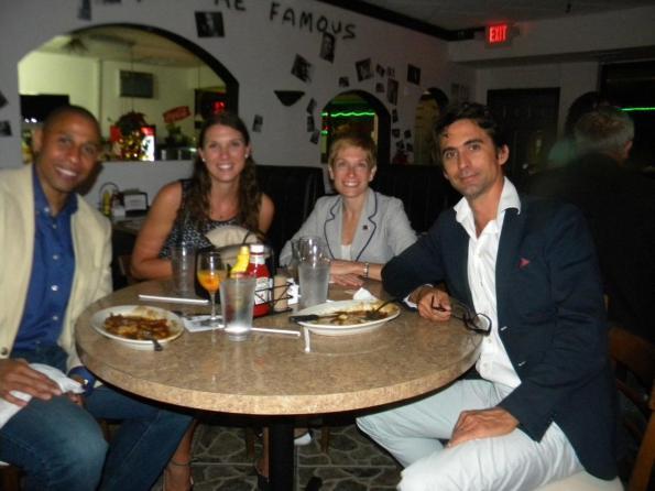 Ricardo Duncan, Jade Vinet, Elaine Brouca, Vincent Hues De Brourwer Table ronde tourisme et Networking