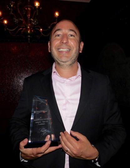 """Pierre-Jean Rivière, vice-président de la société Foxstream qui a gagné le prix """"Start-Up""""."""