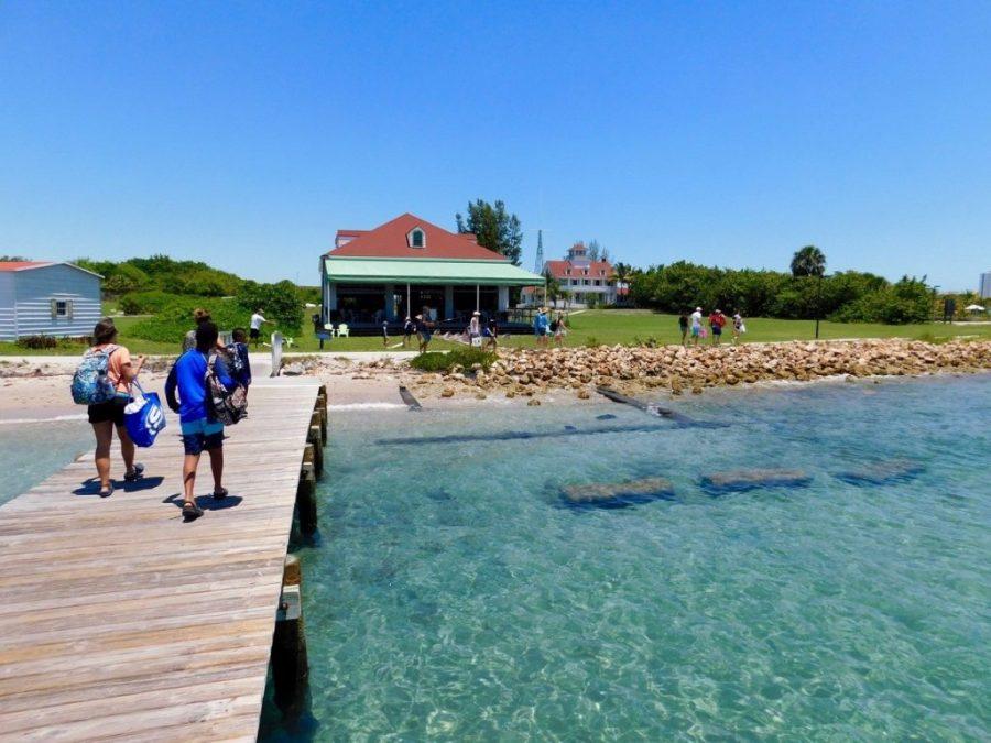 Port de l'île de Peanut Island, près de West Palm Beach en Floride.