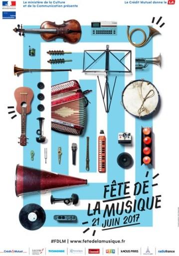 Affiche de la Fête de la musique 2017