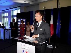 Bastille Day du consul général de France à Miami, Clément Leclerc.