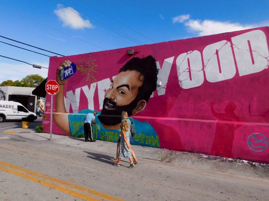Peintures murales au Wynwood Art District de Miami.