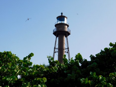Plage et phare de Lighthouse Beach sur l'île de Sanibel (Floride)