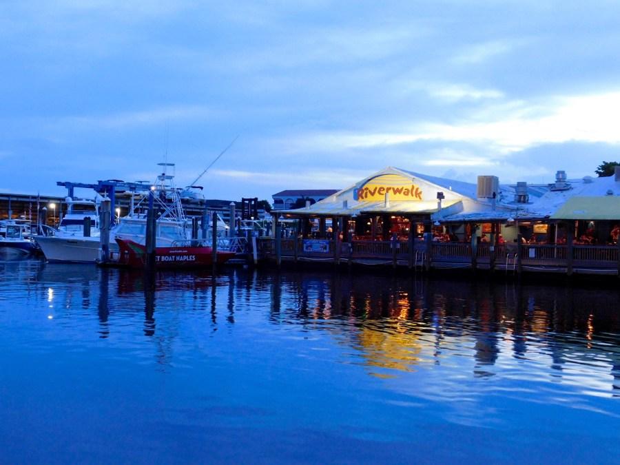 Tin City : quartier de boutiques et de restaurants sur les quais de Naples (Floride)