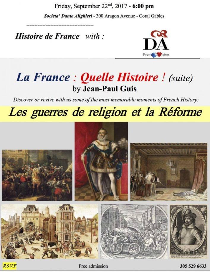 Conférence sur l'histoire de France par  Jean-Paul Guis à MIami