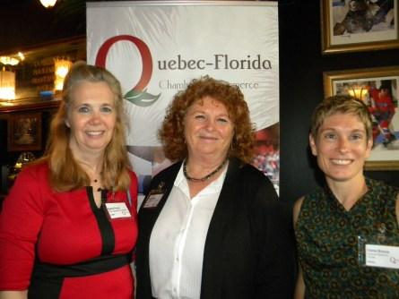 Sophie Proulx, Susan Harper et Elaine Brouca.
