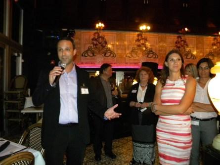 Glenn Cooper et Jade Vinet durant le Cocktail de rentrée de la Chambre de Commerce Québec-Floride à Fort Lauderdale