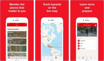 Hurricane, l'application de la Croix Rouge Américaine