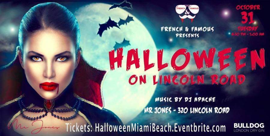 "Halloween ""French & Famous"" à Miami Beach (au club ""Mr Jones"")"