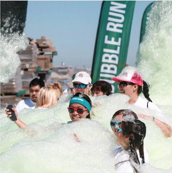 Bubble Run : course dans la mousse à Miami