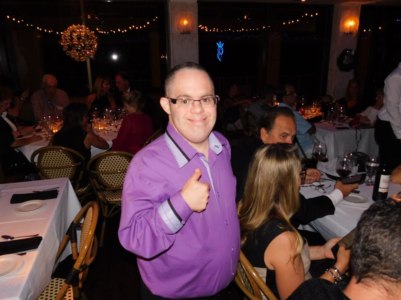 Richard Marchand lors du souper de Noël de la CCQF (Chambre de commerce Québec Floride)