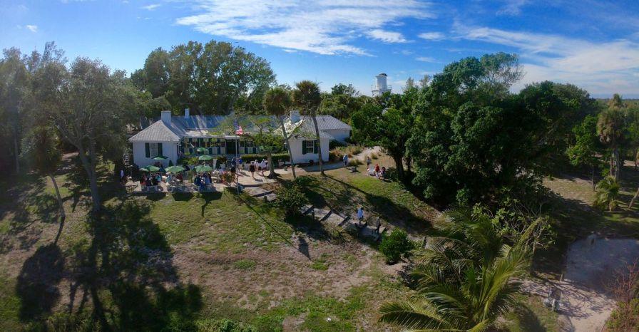 Restaurant sur l'Île de Cabbage Key (Floride)