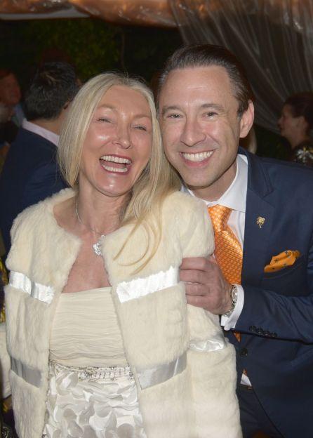 Suzanne Stoll et Scott Diament lors du dernier dîner de gala de la French Heritage Society à Palm Beach.