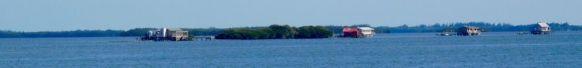 Maisons sur pilotis près de Pine Island en Floride