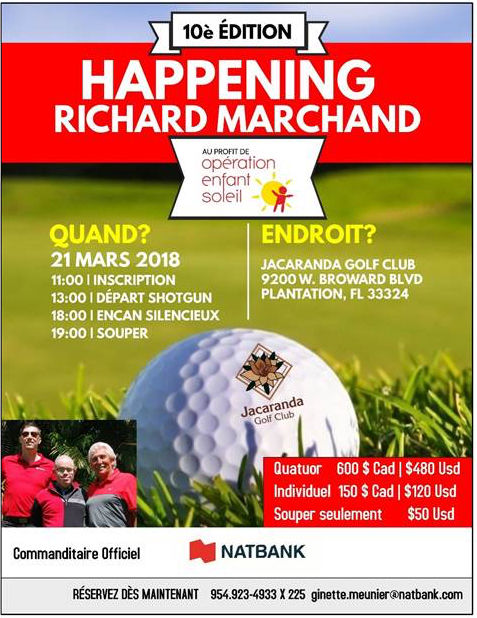 10e Happening de golf Richard Marchand en Floride