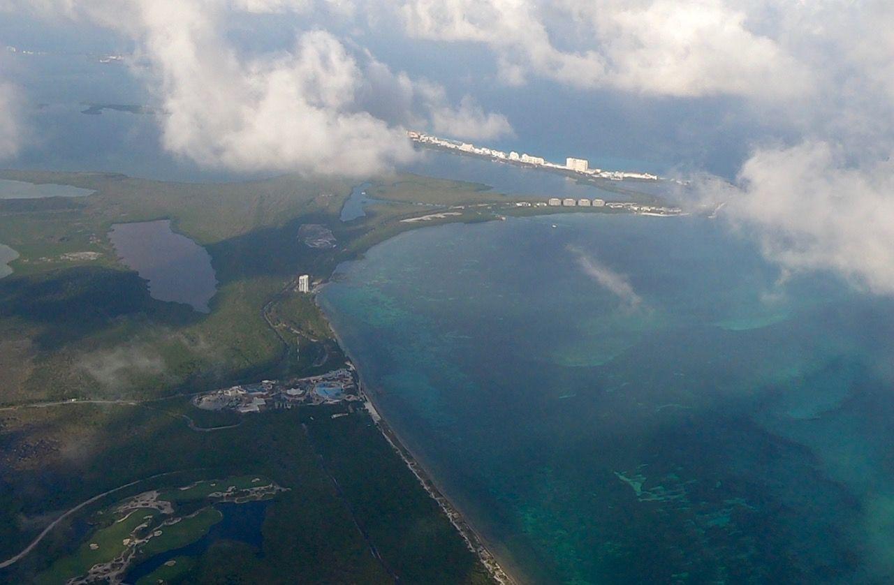 Vue aérienne de Cancun au Mexique