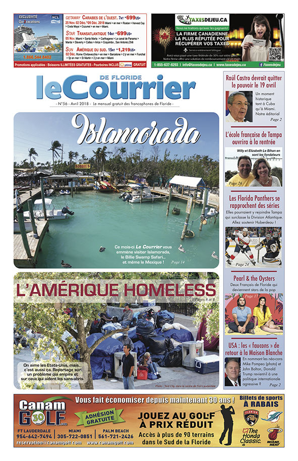 Couverture du Courrier de Floride d'avril 2018
