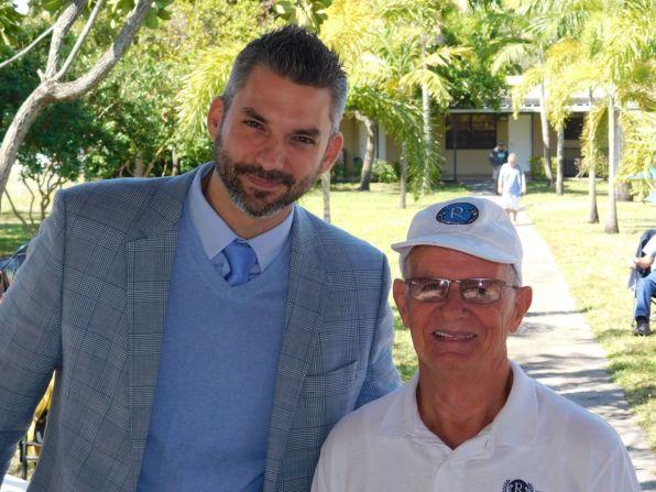 Christian Schoepp (consulat du Canada) et Sylvain Frétigny (Pdt Club Richelieu) à la Journée du Québec 2018 du Club Richelieu à Pembroke Park en Floride