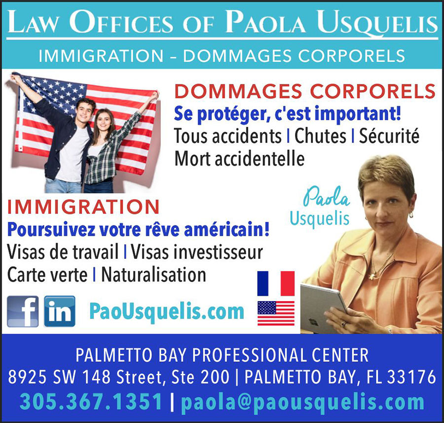 Law Office Of Paola Usquelis : Avocat d'immigration / Dommages corporels / Accidents, à Miami et en Floride
