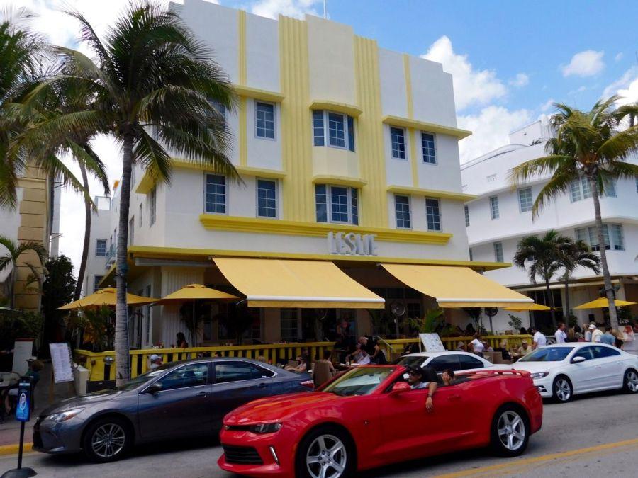 Leslie Hotel, hôtel art déco sur Ocean Drive à South Beach / Miami Beach
