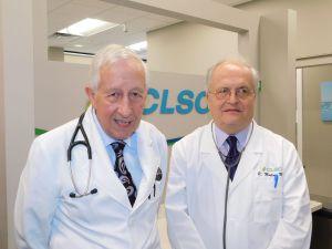 Dr Jean-Claude Bourque et Dr Real Martin, des cliniques CLSC en Floride