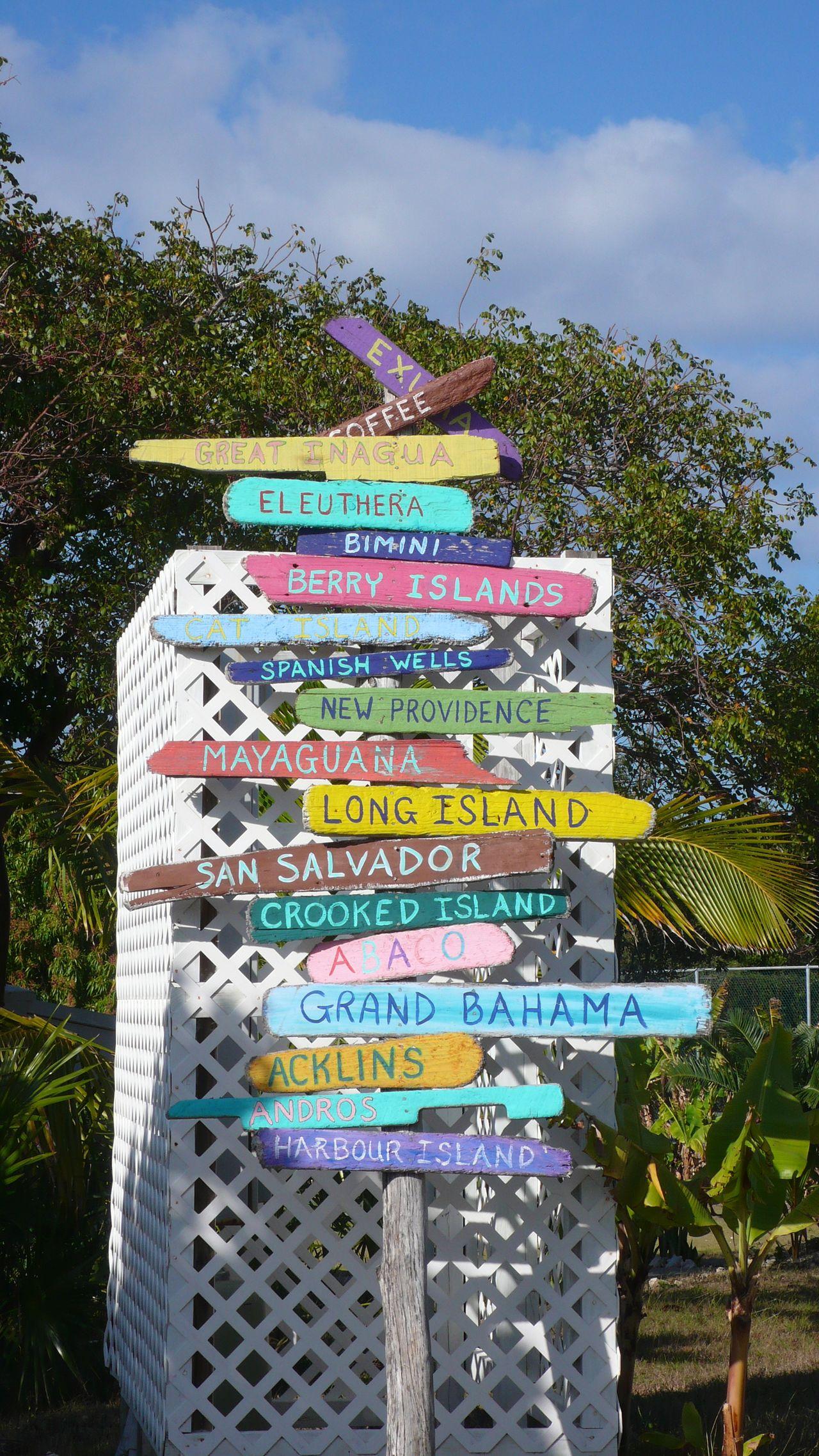 Bahamas - Signalisation des îles de l'archipel