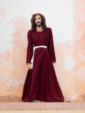 Christ déprimé dans l'église San Antonio de Padua, à Chemax au Mexique.