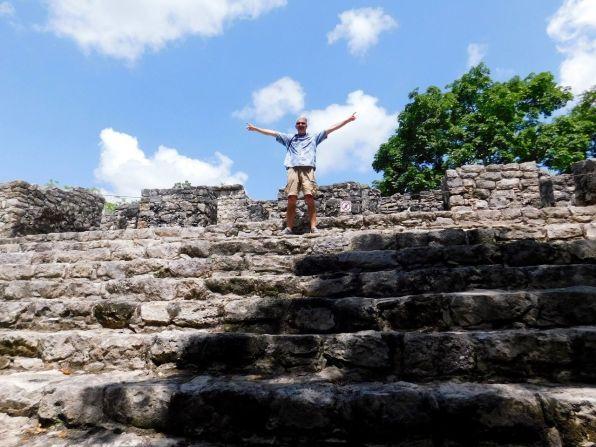Ruines de la cité maya de Cobá au Mexique.