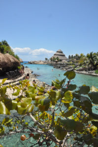 Plage du parc d'attraction X-Caret au Mexique.