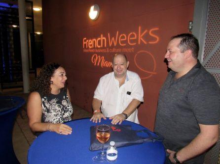 Raquel Afriat (business broker) et Fabrice Herzstein (cabinet comptable MCH) à la soirée d'ouverture des French Weeks Miami 2018