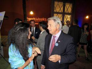 Le conseiller consulaire Jacques Brion à la soirée d'ouverture des French Weeks Miami 2018