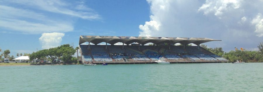 Le Marine Stadium de Miami sur Virginia Key