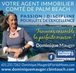 Dominique Mauger / agent immobilier sur le comté de Palm Beach en Floride