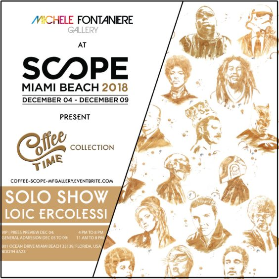 Loic ercolessi à Scope Miami Beach