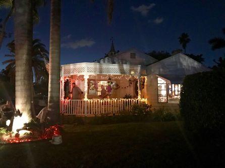 Le quartier de Rio Vista à Fort Lauderdale durant Halloween