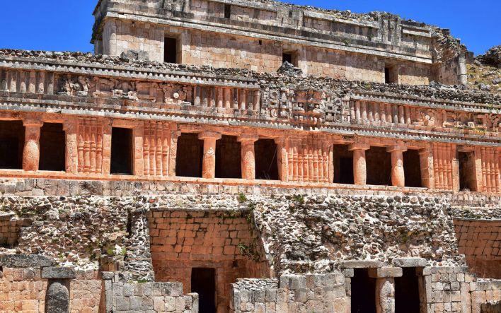 Sayil et ses ruines mayas, dans le Yucatan.