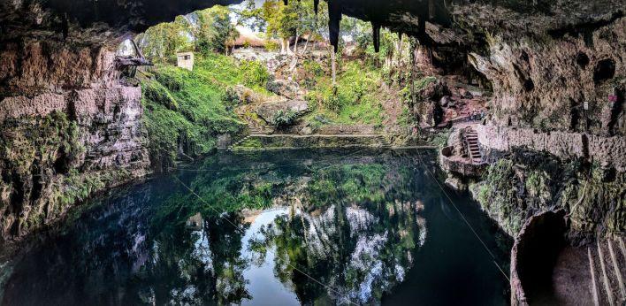 Le cenote Zaci à Valladolid.