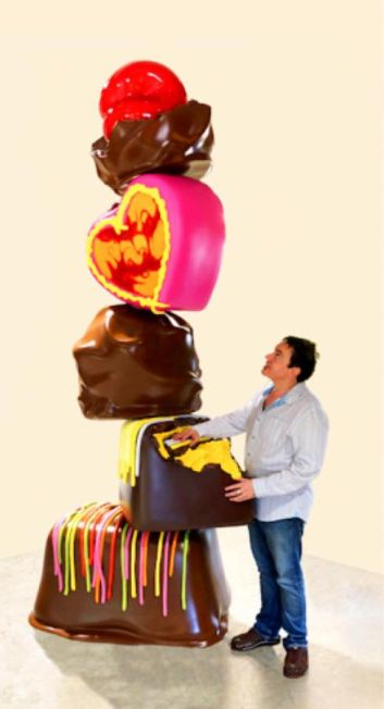"La ""ChocoTower de Peter Anton sera à la foire Art Miami."